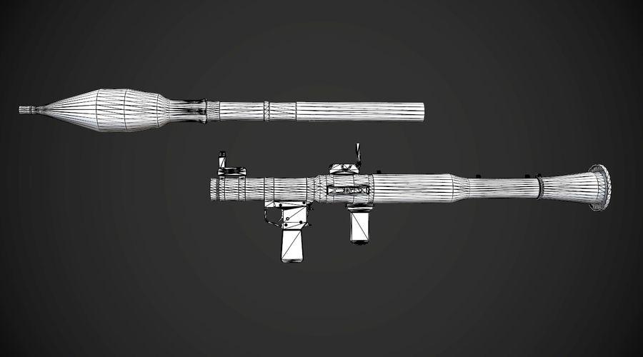 RPG-7 Przenośna wyrzutnia rakiet AAA Broń do gier royalty-free 3d model - Preview no. 20