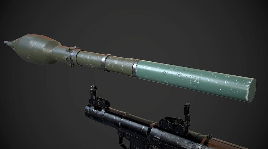 RPG-7便携式导弹发射器AAA游戏武器 royalty-free 3d model - Preview no. 11