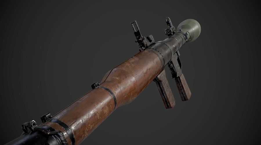RPG-7便携式导弹发射器AAA游戏武器 royalty-free 3d model - Preview no. 8
