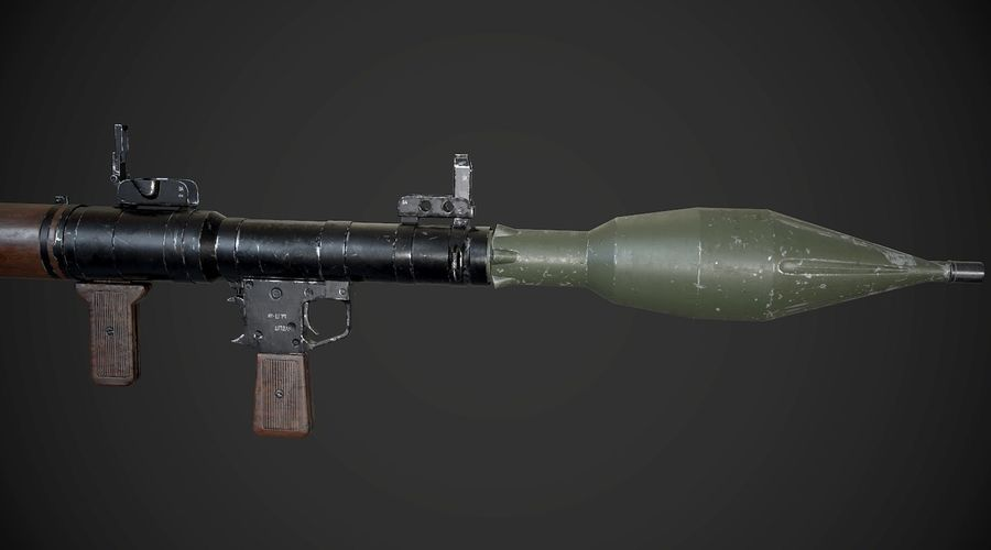 RPG-7便携式导弹发射器AAA游戏武器 royalty-free 3d model - Preview no. 7