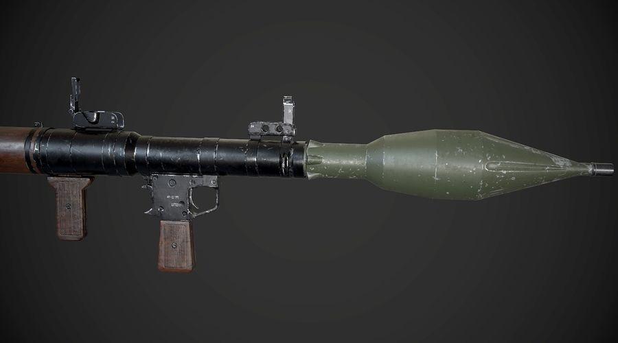 RPG-7 Przenośna wyrzutnia rakiet AAA Broń do gier royalty-free 3d model - Preview no. 7