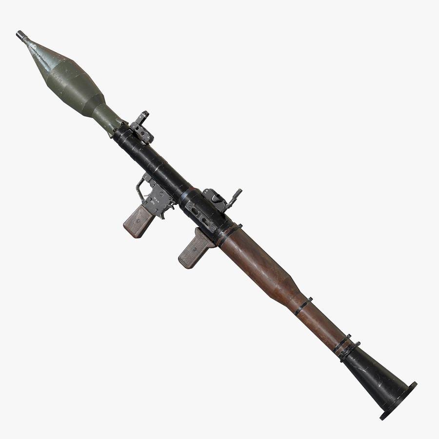RPG-7 Przenośna wyrzutnia rakiet AAA Broń do gier royalty-free 3d model - Preview no. 1