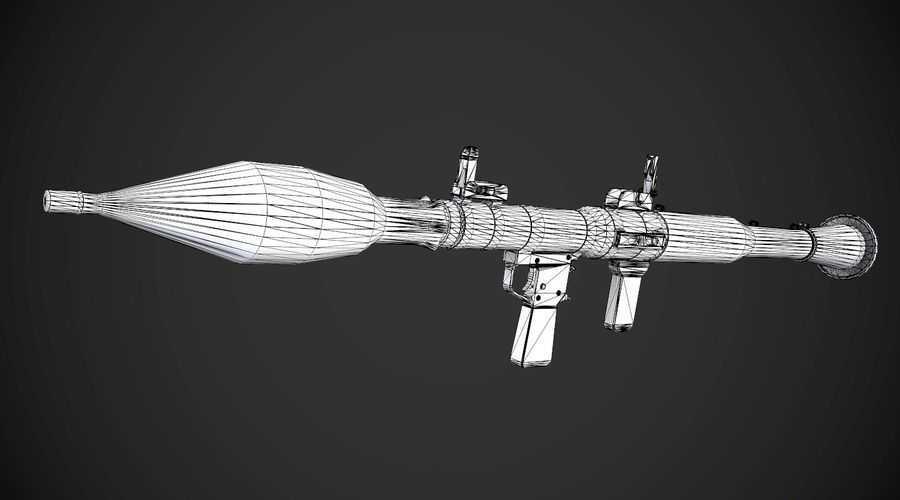 RPG-7 Portable Missile Launcher AAA Spielwaffe royalty-free 3d model - Preview no. 13