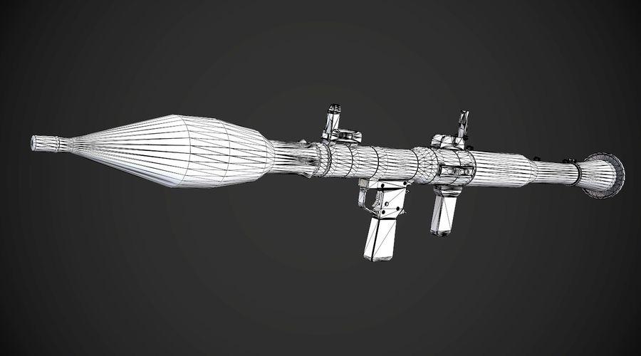 RPG-7 Przenośna wyrzutnia rakiet AAA Broń do gier royalty-free 3d model - Preview no. 13