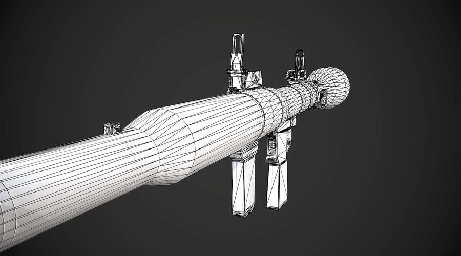 RPG-7便携式导弹发射器AAA游戏武器 royalty-free 3d model - Preview no. 18