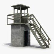 Torre di guardia in cemento 3d model