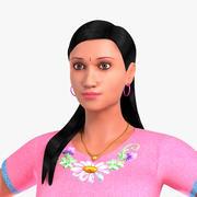 Indisch meisje in formele kleding 3d model