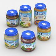 Baby Food Jar Nestle Gerber pack 125g and 190g 3d model