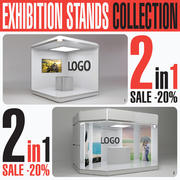 Exhibition Expo Stand Collection 3d model