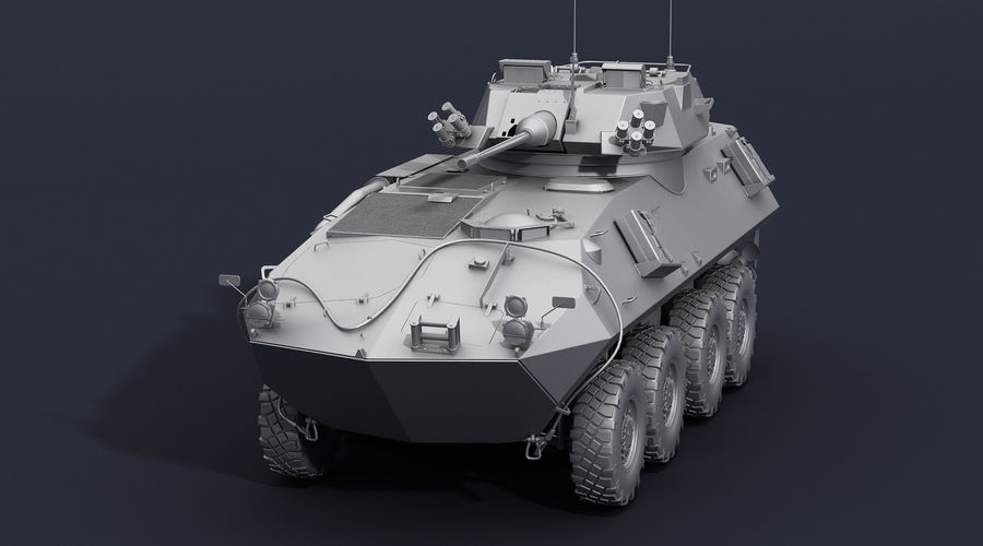 LAV-25 Untextured royalty-free 3d model - Preview no. 2