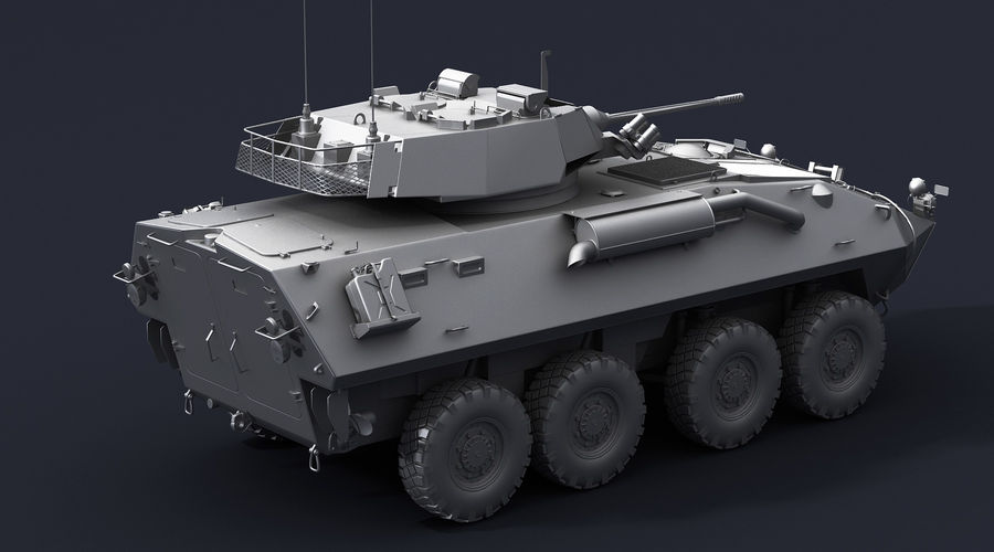 LAV-25 Untextured royalty-free 3d model - Preview no. 6