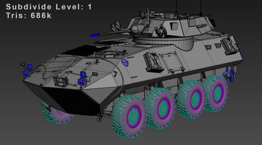 LAV-25 Untextured royalty-free 3d model - Preview no. 9