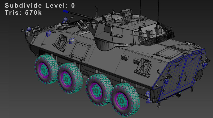 LAV-25 Untextured royalty-free 3d model - Preview no. 10
