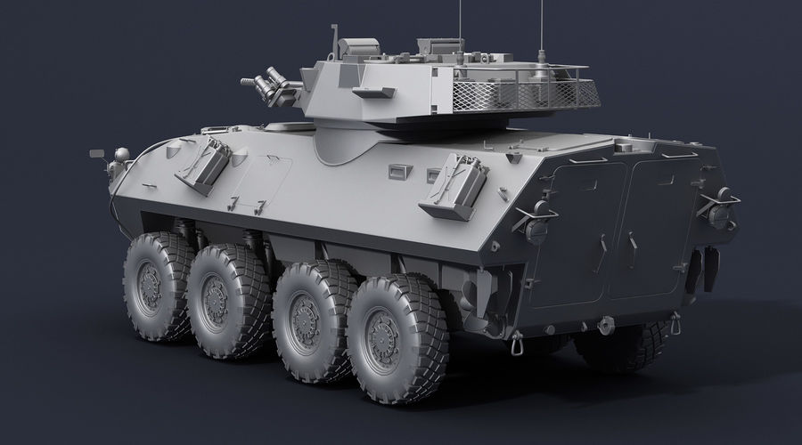 LAV-25 Untextured royalty-free 3d model - Preview no. 4