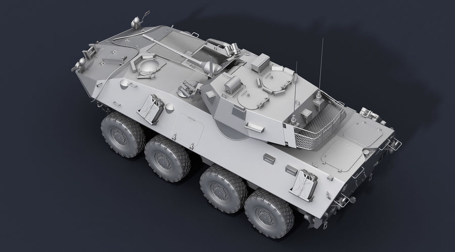 LAV-25 Untextured royalty-free 3d model - Preview no. 5