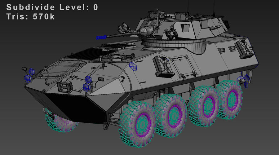 LAV-25 Untextured royalty-free 3d model - Preview no. 8