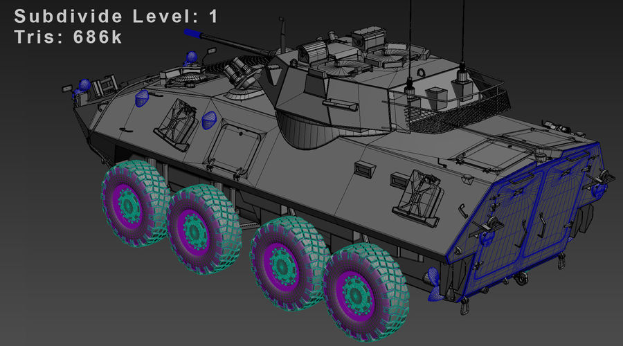 LAV-25 Untextured royalty-free 3d model - Preview no. 11