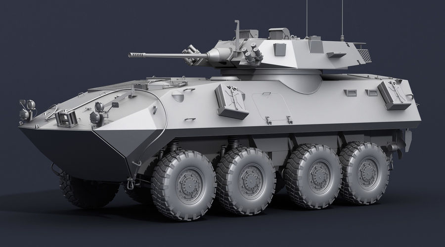 LAV-25 Untextured royalty-free 3d model - Preview no. 3