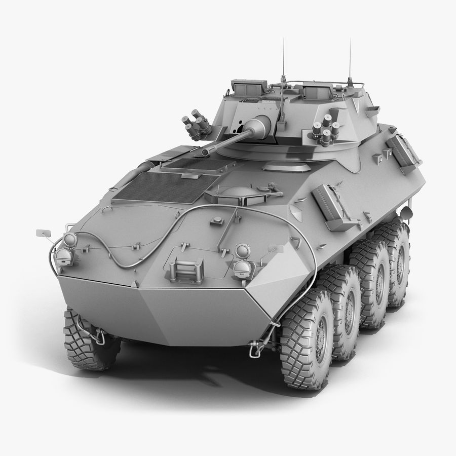 LAV-25 Untextured royalty-free 3d model - Preview no. 1