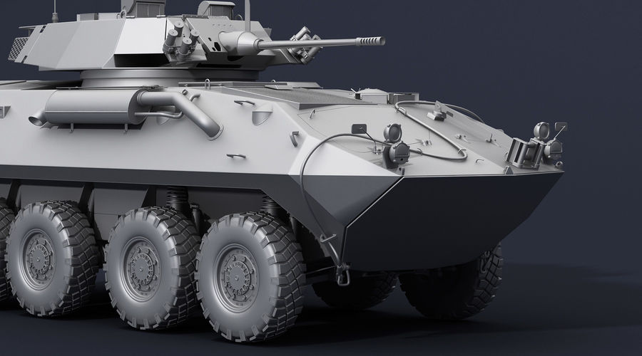 LAV-25 Untextured royalty-free 3d model - Preview no. 7