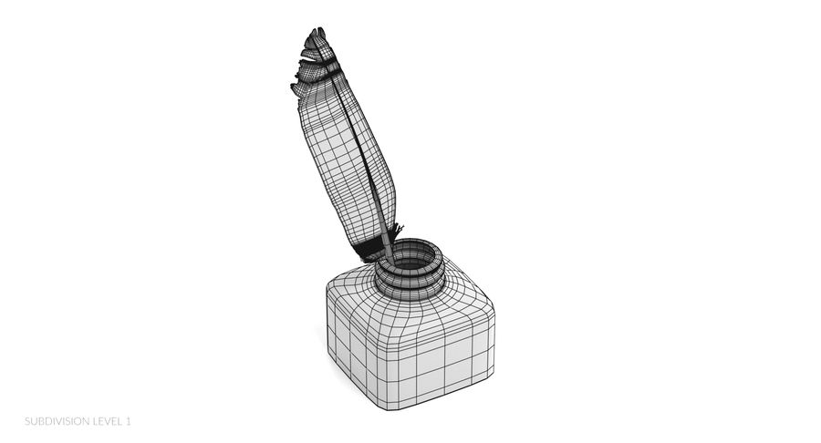 Quill in Inkpot royalty-free 3d model - Preview no. 13