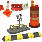 Коллекция безопасности дорожного движения 3d model