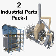 2 Industrial Parts Pack_1 3d model