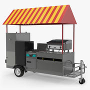 Limo Hot Dog Cart 3D Model 3d model