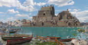 Fantasy Medieval Town 3d model
