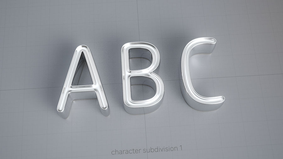 Diamonds_Alphabet Letters royalty-free 3d model - Preview no. 8