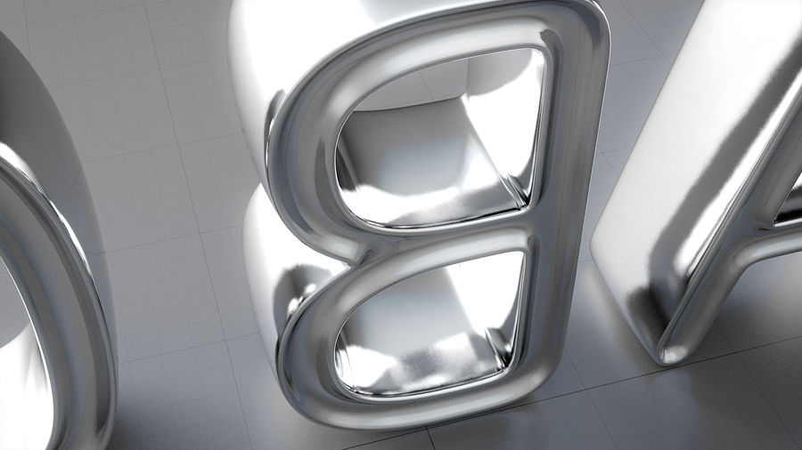 Diamonds_Alphabet Letters royalty-free 3d model - Preview no. 12
