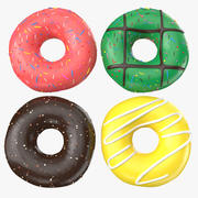 Four Donuts 3d model