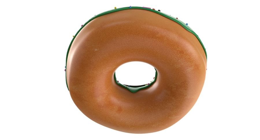 Dört Donut royalty-free 3d model - Preview no. 13