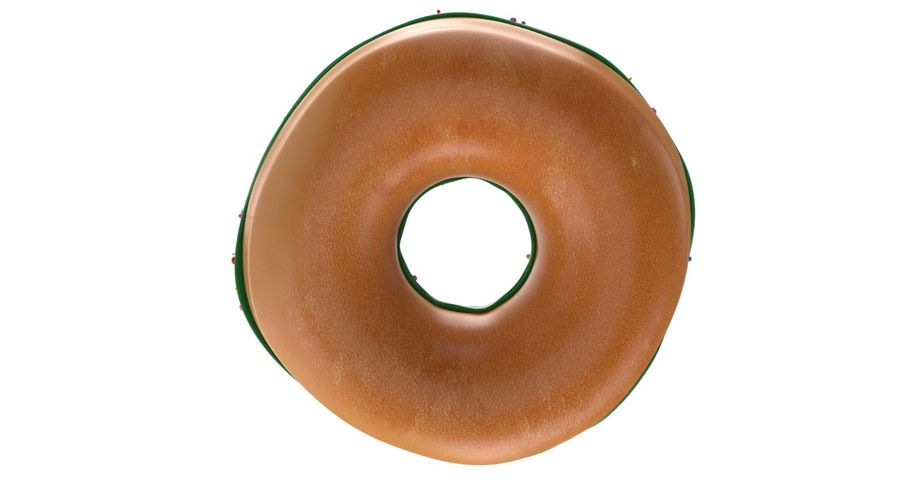 Dört Donut royalty-free 3d model - Preview no. 14