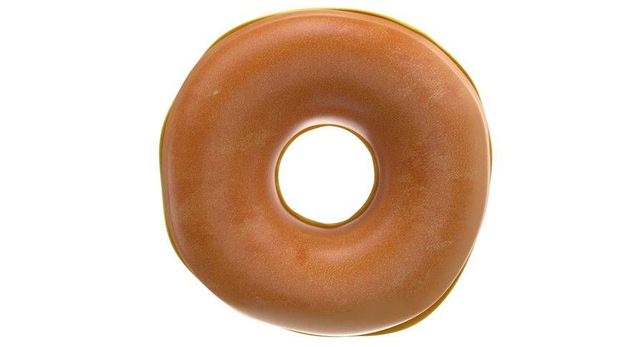 Dört Donut royalty-free 3d model - Preview no. 27