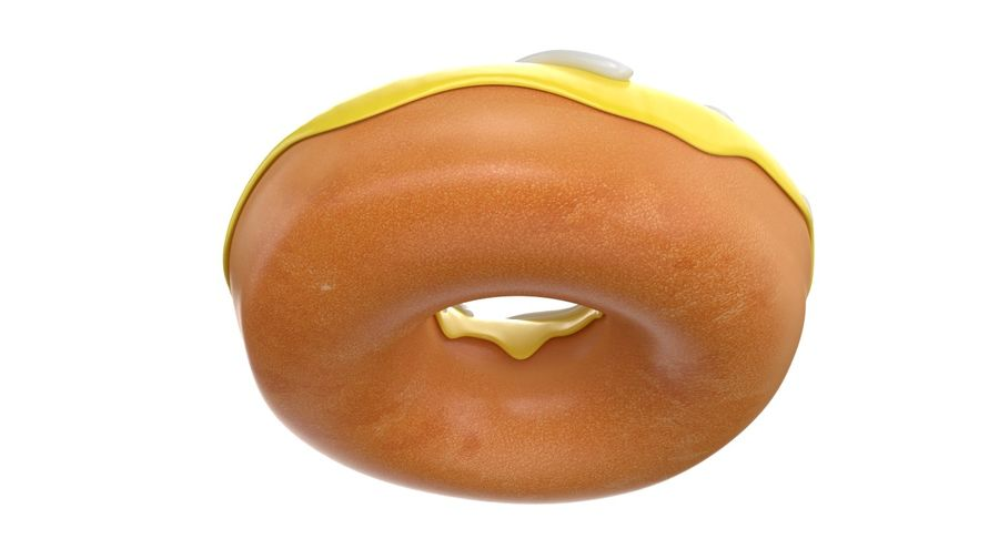 Dört Donut royalty-free 3d model - Preview no. 26