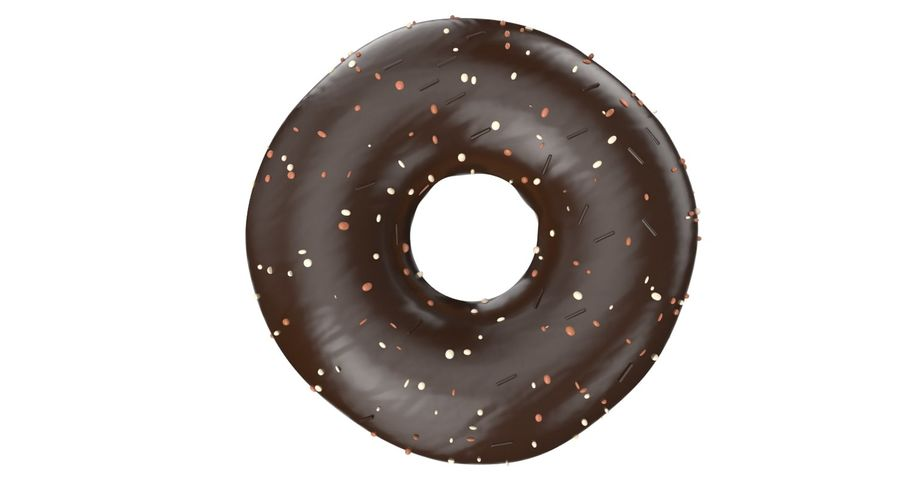 Dört Donut royalty-free 3d model - Preview no. 19