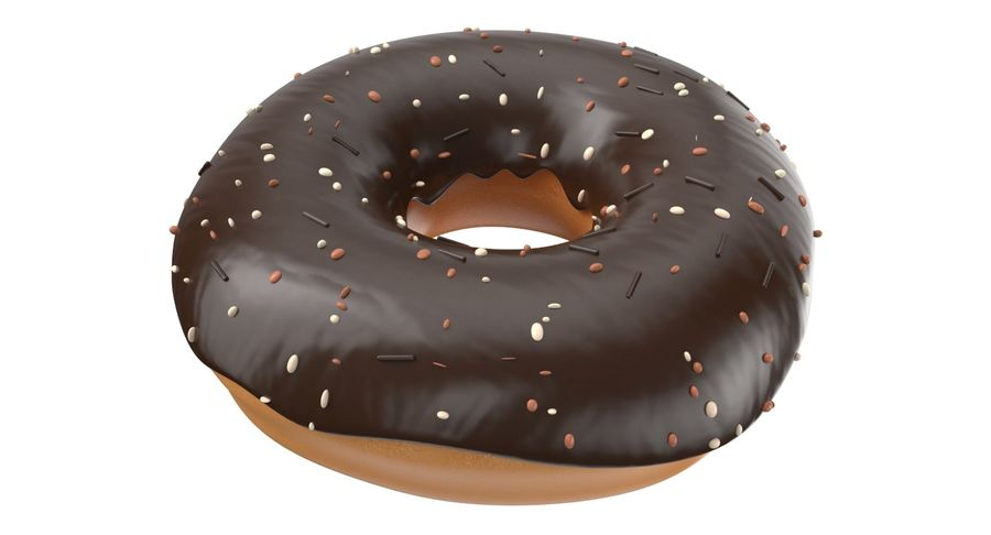 Dört Donut royalty-free 3d model - Preview no. 17