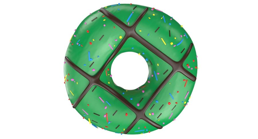 Dört Donut royalty-free 3d model - Preview no. 12