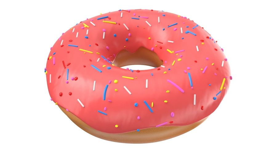 Dört Donut royalty-free 3d model - Preview no. 3