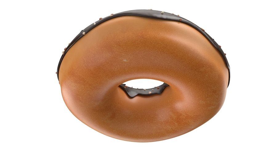 Dört Donut royalty-free 3d model - Preview no. 20