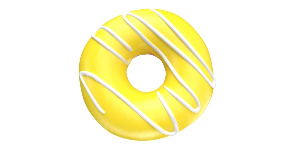 Dört Donut royalty-free 3d model - Preview no. 25
