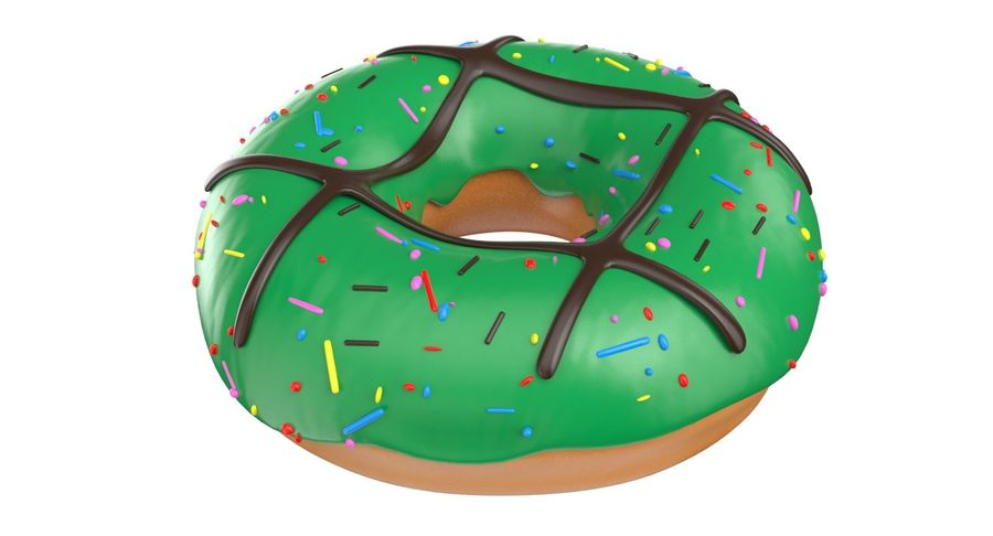 Dört Donut royalty-free 3d model - Preview no. 11
