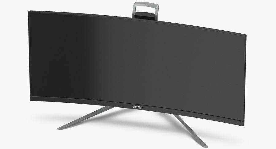 Acer UltraWide QHDモニター royalty-free 3d model - Preview no. 8