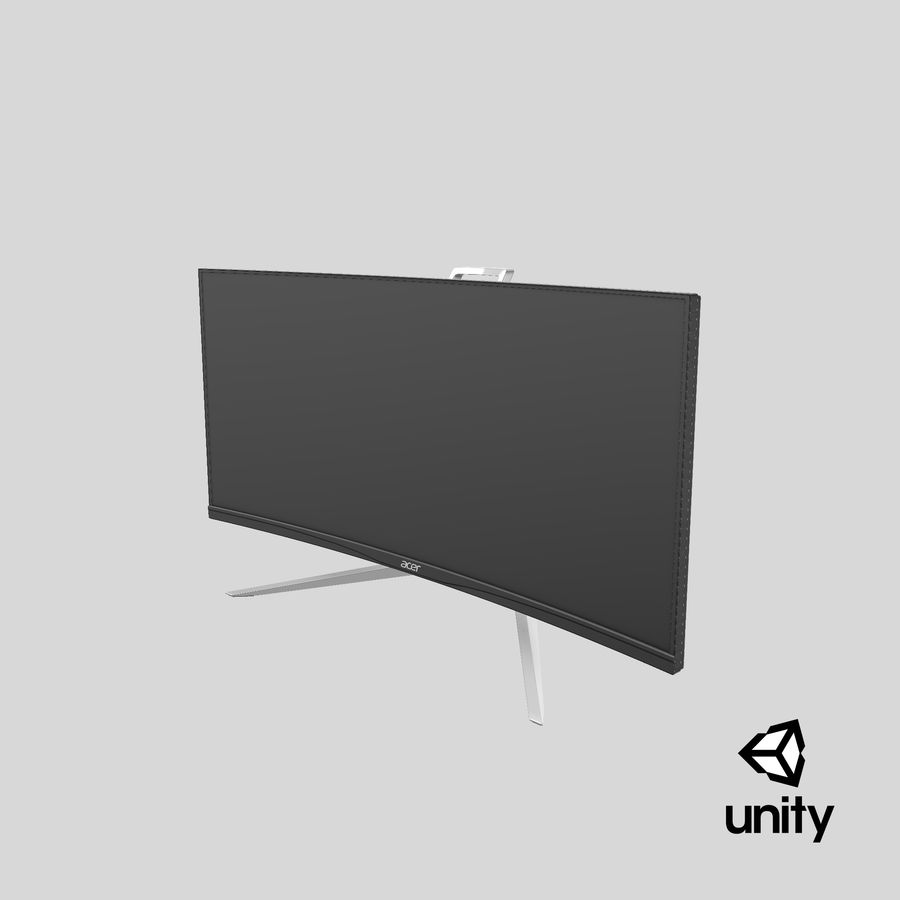 Acer UltraWide QHDモニター royalty-free 3d model - Preview no. 34