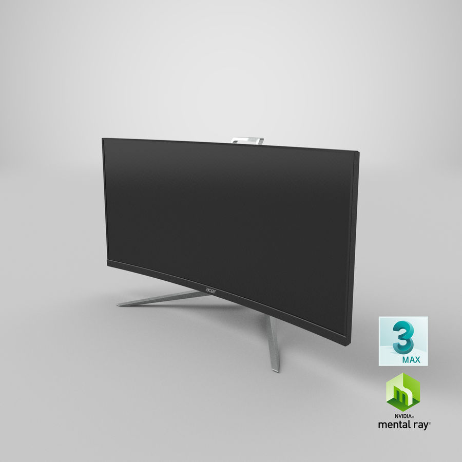 Acer UltraWide QHDモニター royalty-free 3d model - Preview no. 31