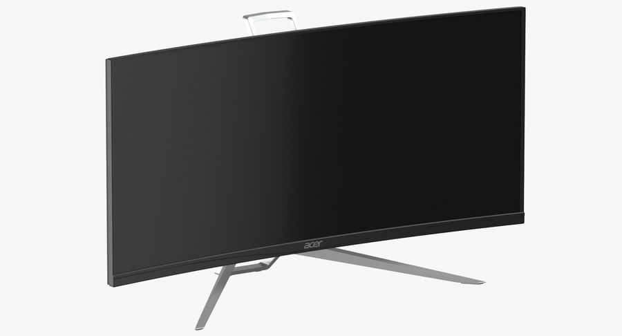 Acer UltraWide QHDモニター royalty-free 3d model - Preview no. 2