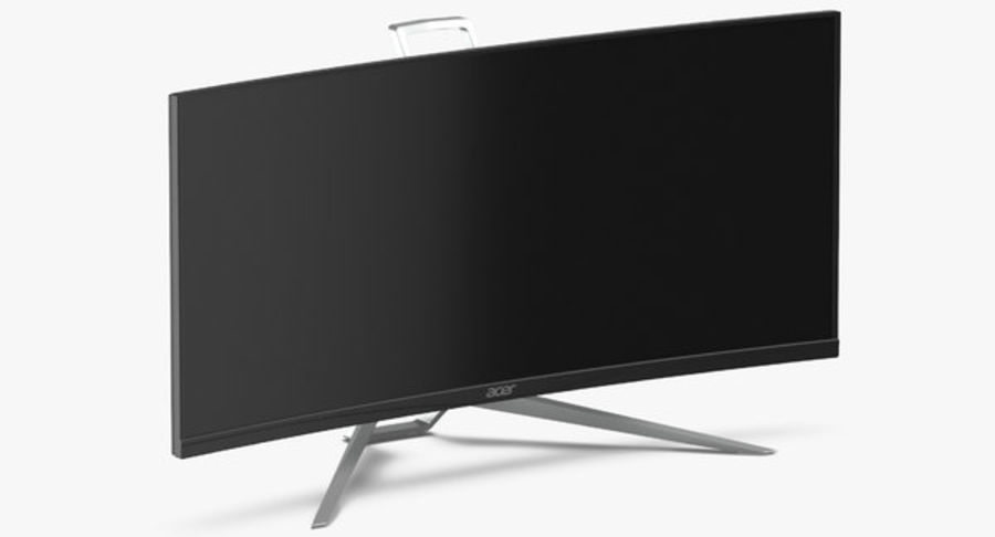 Acer UltraWide QHDモニター royalty-free 3d model - Preview no. 5