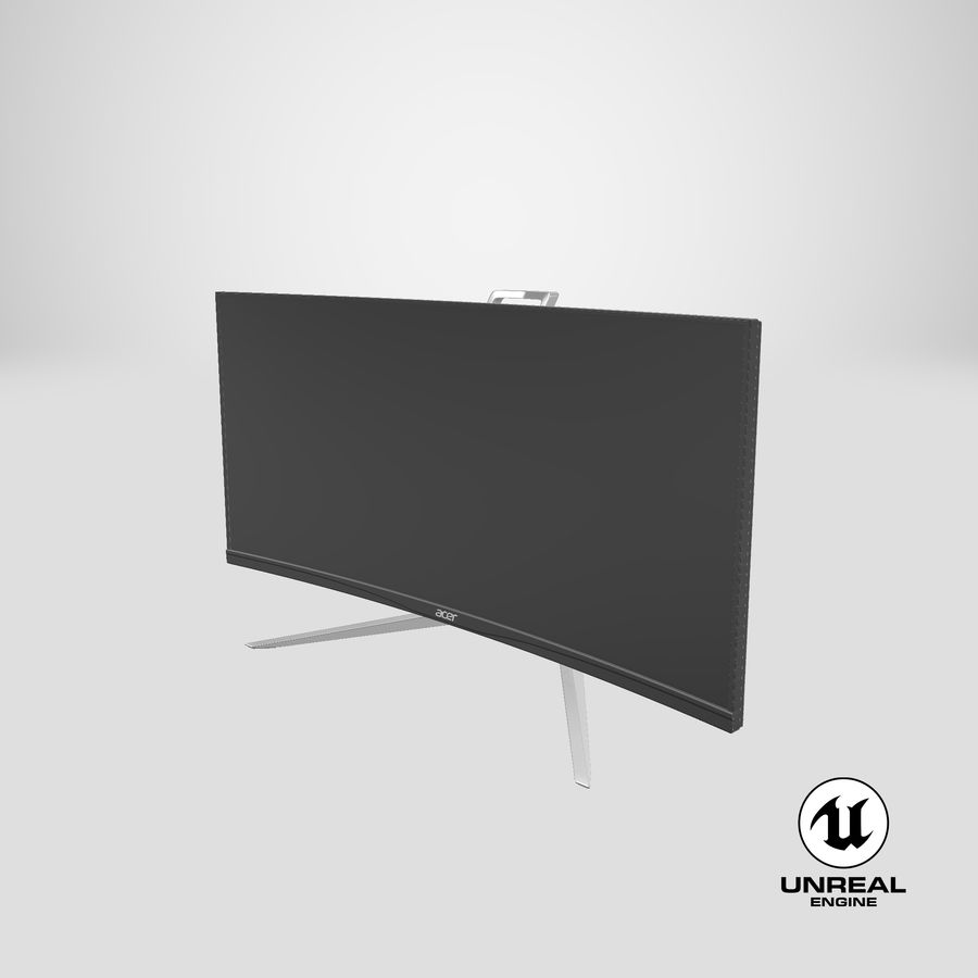 Acer UltraWide QHDモニター royalty-free 3d model - Preview no. 33