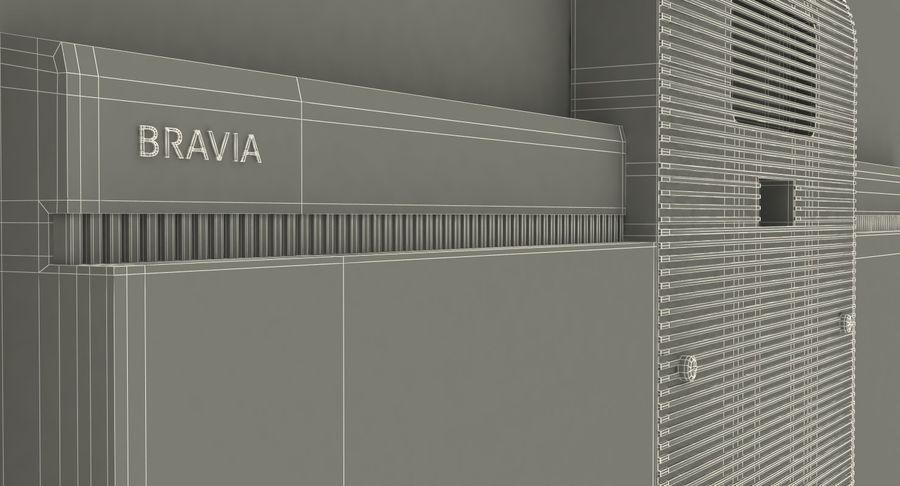 Sony OLED TV Bravia AF8 Off royalty-free 3d model - Preview no. 16